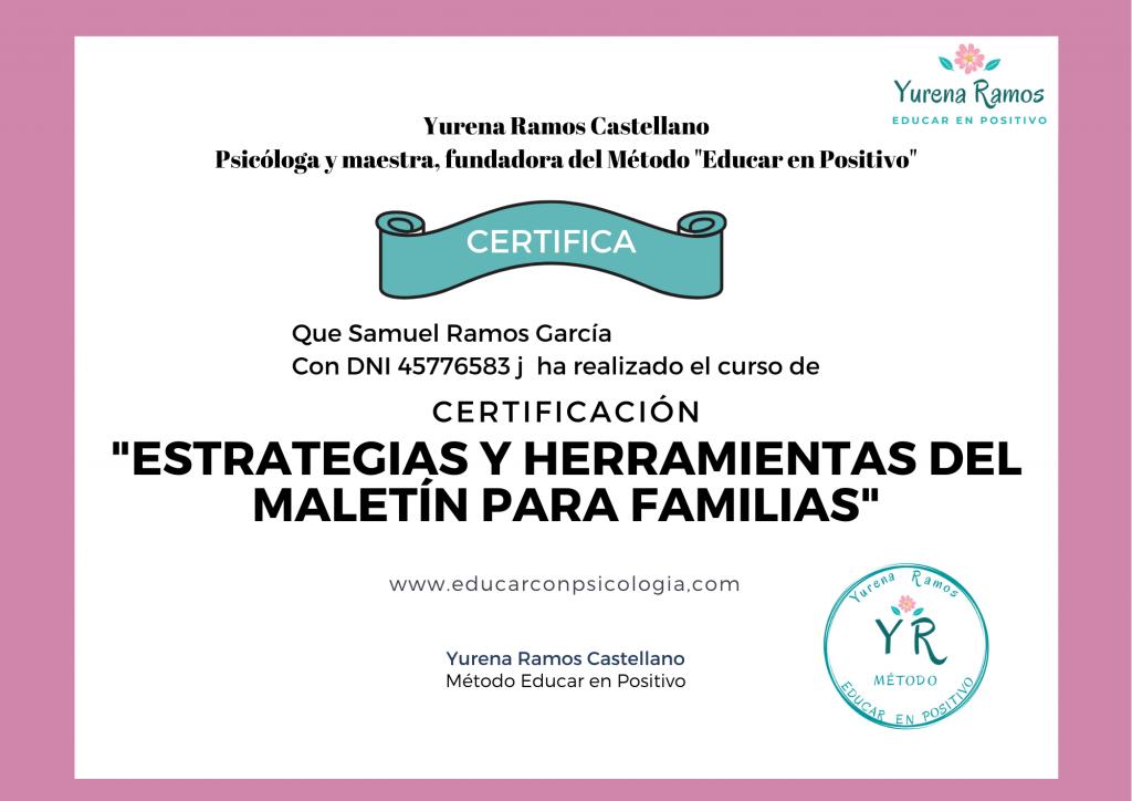 CERTIFICADO Yurena Ramos